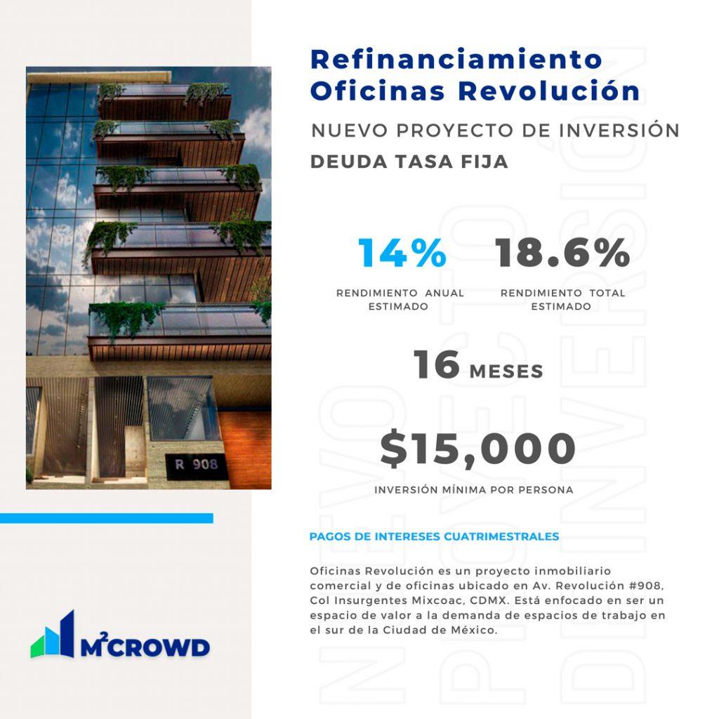 Proyecto Refinanciamiento Oficinas Revolución