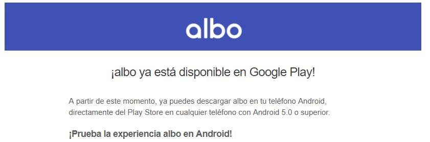albo para android