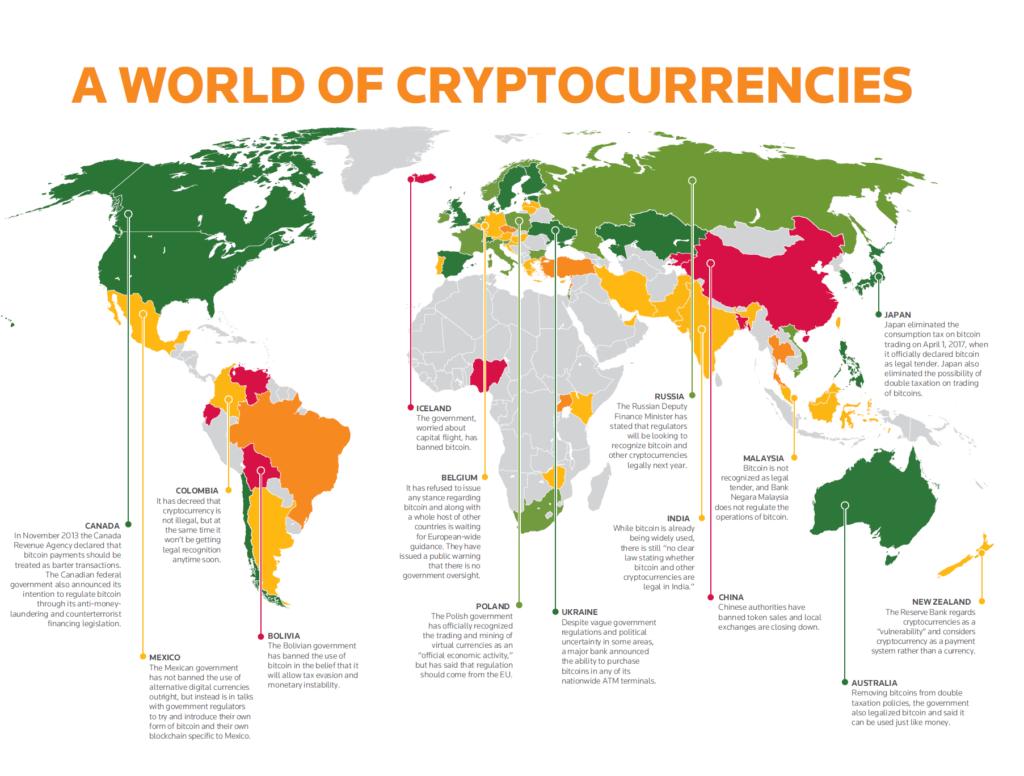 criptomonedas en el mundo