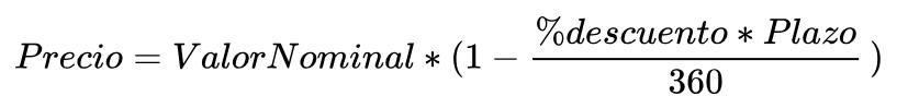 formula precio cetes